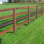 Traditional Post & 4 Rail Kit (1.35m High Fence) per metre.