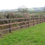 Traditional Post & 3 Rail Kit (1.35m High Fence) per metre.